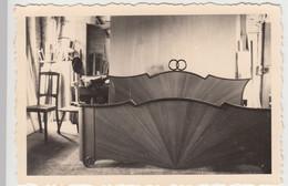 (F9266) Orig. Foto Tischlerei, Möbel Von Dr. Kipner, Düsseldorf, Ehebett 1937 - Otros