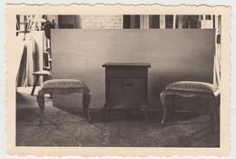 (F9267) Orig. Foto Tischlerei, Möbel Von Dr. Kipner, Düsseldorf, Hocker Und Schr - Otros