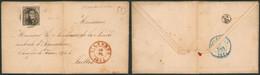"""N°6 Touché Sur LAC Obl P125 çàd Vilvorde (1854) + Boite Rurale """"I"""" (Steenokkerzeel) > Ixelles, Société Agricole - 1851-1857 Medaglioni (6/8)"""