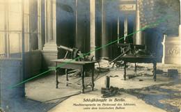 14-18.WWI - Carte Photo Allemande - Schloßkämpfe Berlin Maschinengewehr - Guerre 1914-18