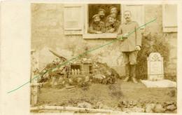 14-18.WWI - Carte Photo Allemande - Soldaten Minenwerfer Granatwerfer Grab - Guerre 1914-18