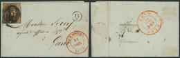 N°6 Touché Sur LAC Obl P114 çàd Termonde (1852) + Boite Rurale Q (Manusc. Opdorp) > Gand, Agent D'affaires - 1851-1857 Medaglioni (6/8)