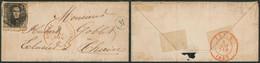 """N°6 Touché Sur LAC Obl P149 çàd Solre-S-Sambre + Boite Rurale """"M"""" (Montigny 1857) > éclusier à Thuin - 1851-1857 Medaglioni (6/8)"""