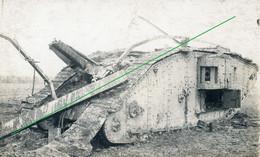 14-18.WWI - Carte Photo Allemande - Panzer Tank Feindesland - Guerre 1914-18