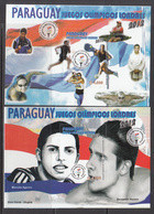2012 Paraguay London 2012 Tennis Swimming Complete Set Of 2 Souvenir Sheets MNH - Paraguay