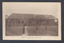 Congo Belge - Amadi - La Nouvelle école - Postkaart - Belgian Congo - Other