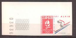 Superbe Coin De Feuille.J.O. Albertville Ski Alpin YT 2710 De 1991 Sans Trace De Charnière - Ongetand