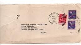 USA ETATS UNIS AFFRANCHISSEMENT COMPOSE SUR LETTRE POUR LA FRANCE 1939 - Covers & Documents