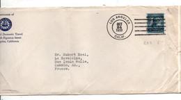 USA ETATS UNIS SEUL SUR LETTRE DE LOS ANGELES POUR LA FRANCE 1939 - Covers & Documents