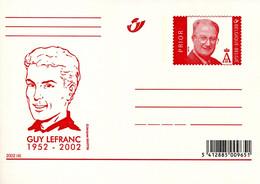 11202343 BE; N°2002-4, BD, Guy Lefranc; Carte Postale Illustrée - Cartoline [1951-..]