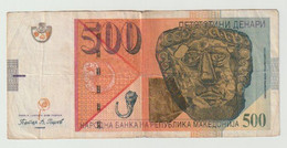Used Banknote Macedonia 500 Denari 2009 - Macédoine