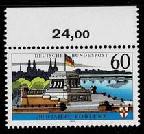 Bund 1992, Michel# 1583x ** 2000 Jahre Koblenz - Nuovi