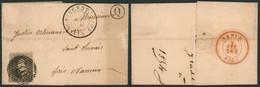 """Médaillon - N°6 Touché Sur LSC Obl D40 Luxe! """"Nil-St-Vincent"""" (1854) + Boite Rurale """"Q"""" (Mont-St-Guibert) > St-Servais - 1851-1857 Medaglioni (6/8)"""