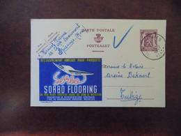 """EP Belgique Publibel 673 """" Sorbo Flooring """" - St Symphorien 1947 - Mr. Ernest Vienne Spiennes - Publibels"""