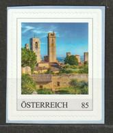 Österreich PM Berühmte Türme Geschlechtertürme Toskana Italien ** Postfrisch Selbstklebend - Private Stamps