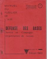 Livret D'instruction Commando Armée De L'air BA 720 Caen-Carpiquet - Défense Des Bases - 1963 - Otros