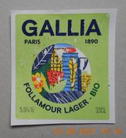 1  ETIQUETTE De BIERE  GALLIA - Bière