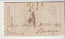 """Lettre Valparaiso / Chili Pour Bordeaux Avec Cachet Rouge """"Outremer - Bordeaux"""", 1839, Avec Correspondance - 1801-1848: Vorläufer XIX"""