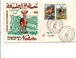 MAROC  FDC 1972 FAUNE MAROCAINE - Maroc (1956-...)
