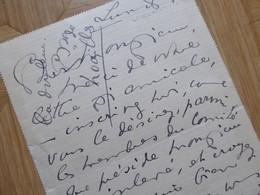 Anna De NOAILLES - Autographes