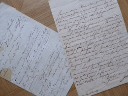 Abbé De GENOUDE (1792-1849) ROYALISTE. Député TOULOUSE Gazette France. 2 X AUTOGRAPHE - Autographs