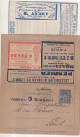 "FRANCE : ENTIER POSTAL . 15 Ct . TYPE SAGE . CLA . "" LA MISSIVE EDITION N°327 "" . 1892 . OBL . - Tarjetas Cartas"