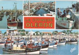 CPSM 17 ILE D'OLÉRON - LA COTINIÈRE Multi-vues Du Port Et Des Bateaux De Pêche  1988 - Ile D'Oléron