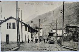 CPA  LANTOSQUE (06) - LA GARE DU TRAM - Franchise Militaire BE - Lantosque