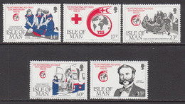 1989 Isle Of Man  Red Cross Health Complete Set Of 5 MNH - Isla De Man