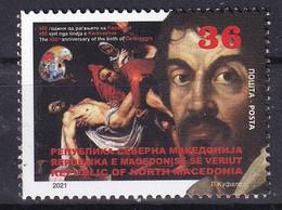 MACEDONIA 2021,450th ANN. OF THE BIRTH OF CARAVAGGIO,Painter,ART,MNH - Macedonia