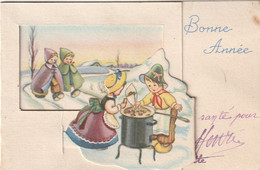 1038 _ MIGNONETTE BONNE ANNEEA SYSTEME MARHAND MARRONS GRILLES ENFANTS PAYSAGE ENNEIGE . ILLUST. G G - New Year