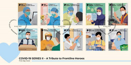 2021 NEW *** Singapore Covid-19 Series II - A Tribute To Frontline Heroes FDC Cover Doctor Coronavirus (**) - Singapore (1959-...)
