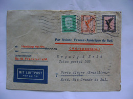 GERMANY - LETTER SENT FROM HAMBURG VIA AEROPOSTALE TO PORTO ALEGRE (BRAZIL) IN 1932 IN THE STATE - Andere