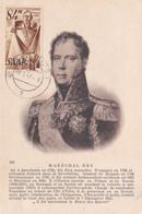 SARRE :  Carte Maximum Maréchal Ney  Oblitération De Sarrelouis 1947 - Brieven En Documenten