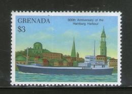 Grenada 1990 Hamburg Harbour Ship In Port Architecture Sc 1796 MNH # 326 - Ships