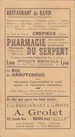 HORAIRE DES AUTOCARS O.T.L. 1936 - LIGNE LYON CORDELIERS-CREPIEU-MIRIBEL-MONTLUEL - Europa
