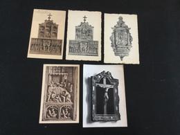 Lot De 5 CP Anciennes De L'église De Villers-la-Ville - Villers-la-Ville