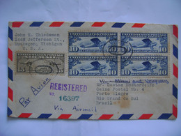 UNITED STATES - LETTER SENT FROM MUSKEGON VIA NEW YORK TO PORTO ALEGRE (BRAZIL) IN 1930 IN THE STATE - Lettres & Documents