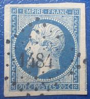 R1311/90 - NAPOLEON III N°14Aa Bleu Foncé - LUXE - PC 1484 : HAGUENEAU (Bas Rhin) ➤ INDICE 5 - 1853-1860 Napoléon III.