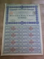 ENTREPRISE COOPERATIVE FRANÇAISE - ACTION DE 100 FRANCS - 1924 - N° 37 811 / 42 000 - Industrial