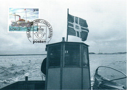 """NORVEGE. N°1176 De 1996 Sur Carte Maximum. Vapeur """"Framnaes"""". - Ships"""