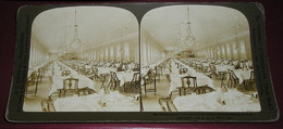 Stéréo 017, HC White CO 526, Dining Room Of The Granr Hotel, Saratoga Spring, USA, Bon état - Stereoscopic