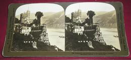Stéréo 011, HC White CO 2197, Rheinstein, The Most Famous Castle On The Rhine, Germany, Bon état - Stereoscopic