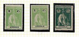 ANGOLA STAMP - 1914 CERES P.LISO (1918-21) D:15X14 Md#144 (3 DIF. TONES) MNH-MH (LAN#46) - Angola