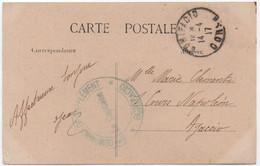 CORSE Carte Postale En Franchise Militaire Marque 5ème Compagnie De Supplément De BONIFACIO Cachet 1917 - Guerre De 1914-18