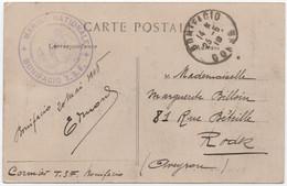 CORSE Carte Postale En Franchise Militaire Marque MARINE NATIONALE  BONIFACIO TSF (télégraphie Sans Fil) Cachet 1918 - Guerre De 1914-18