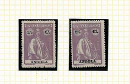 ANGOLA STAMP - 1914 CERES P.LISO (1918-21) D:15X14 Md#147 (2 DIF. TONES) MNH-MH (LAN#50) - Angola