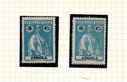 ANGOLA STAMP - 1914 CERES P.LISO (1918-21) D:15X14 Md#148 (2 DIF. TONES) MNH-MH (LAN#51) - Angola