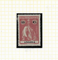 ANGOLA STAMP - 1914 CERES P.LISO (1918-21) D:15X14 Md#152 MNH (LAN#53) - Angola
