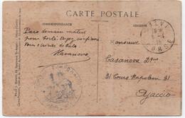 CORSE Carte Postale Franchise Militaire Marque Médecin-chef Hôpital Temporaire De CALVI 1915 RRR - Guerre De 1914-18